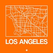 Orange Map of Los Angeles