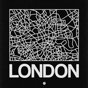 Black Map of London