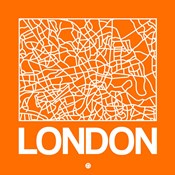 Orange Map of London
