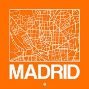 Orange Map of Madrid