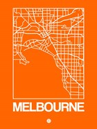 Orange Map of Melbourne