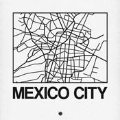 White Map of Mexico City