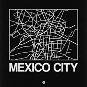 Black Map of Mexico City