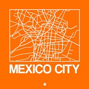 Orange Map of Mexico City