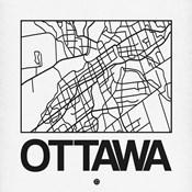 White Map of Ottawa