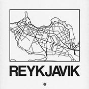 White Map of Reykjavik
