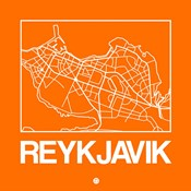 Orange Map of Reykjavik