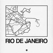 White Map of Rio De Janeiro
