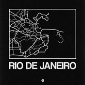 Black Map of Rio De Janeiro