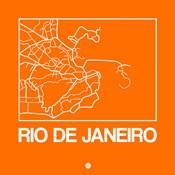 Orange Map of Rio De Janeiro