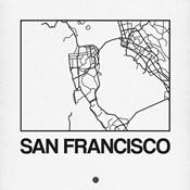 White Map of San Francisco