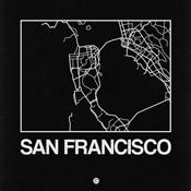 Black Map of San Francisco