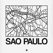 White Map of Sao Paulo