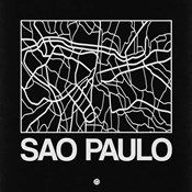 Black Map of Sao Paulo