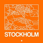 Orange Map of Stockholm
