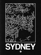 Black Map of Sydney