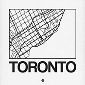 White Map of Toronto