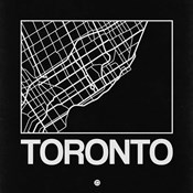 Black Map of Toronto