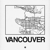 White Map of Vancouver