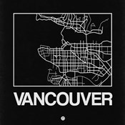 Black Map of Vancouver