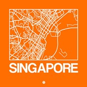 Orange Map of Singapore