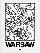 White Map of Warsaw