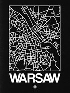 Black Map of Warsaw