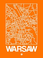 Orange Map of Warsaw