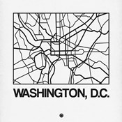 White Map of Washington, D.C.