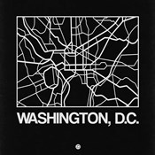 Black Map of Washington, D.C.