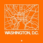 Orange Map of Washington, D.C.
