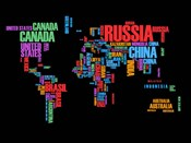 Typography World Map 1