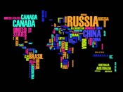 Typography World Map 2