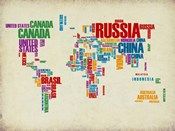 Typography World Map 3