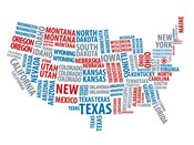 Typography USA Map