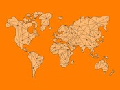 World Map Orange 1