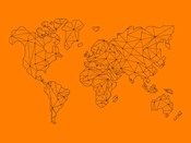 World Map Orange 2