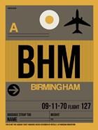 BHM Birmingham Luggage Tag I