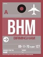 BHM Birmingham Luggage Tag II