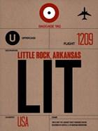 LIT Little Rock Luggage Tag I