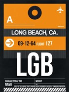 LGB Long Beach Luggage Tag II