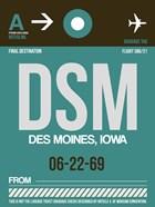 DSM Des Moines Luggage Tag II