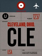 CLE Cleveland Luggage Tag I