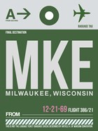 MKE Milwaukee Luggage Tag II