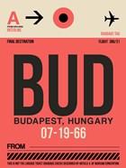 BUD Budapest Luggage Tag I