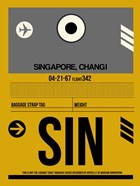 SIN Singapore Luggage Tag I