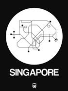 Singapore White Subway Map