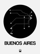 Buenos Aires Black Subway Map