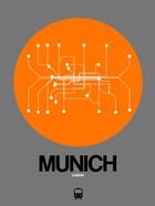 Munich Orange Subway Map