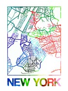 New York Watercolor Street Map